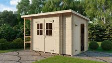 ABHOLBAR SOFORT 18 mm Gartenhaus ca. 3,3 x 2 m + Schleppdach + Anbau Gerätehaus
