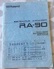 "MODE D'EMPLOI (Owner's Manual) Arrangeur ""ROLAND"" RA-90"""