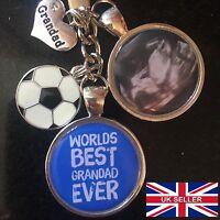 Personalised Photo Keyring - Best Grandad Football - Christmas Present Gift