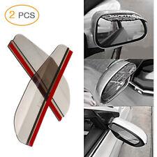 2Pcs Car Rear View Side Mirror Rain Board Eyebrow Guard Sun Visor Shade Shield