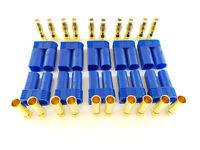 10Stk. EC5  Stecker + Buchse Set (5 Paar) AMASS Goldkontakt 5mm E-flite