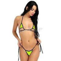 Sexy Women Strappy Halter Bikini Bra G-String Set Swimsuit Swimwear Beachwear