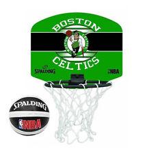 Spalding Boston Celtics NBA Mini Planche Basketball Bague Filet & Balle Ensemble