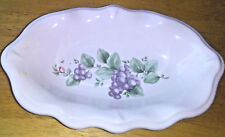 Pfaltzgraff Grapevine Fluted Scalloped Serving Dish 9in x 5.5in Relish Tray NEW