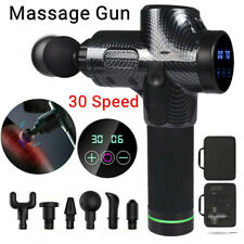 Massage Gun Percussion Massager 6/30 Speed Deep Tissue Muscle Vibrating Relaxing