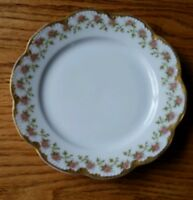 Antique Depose \u201cL S /& S Limoges  8 Scalloped Gold Decorated Plate France