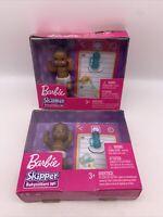 2 Barbie Skipper Babysitters Inc African American Black Baby Doll Twins New