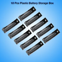 10pcs/lot Battery Storage Box Holder Plastic for 3.7V 18650 Battery with Pin  MF