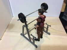Action Figure Squat Rack and weights (1:18 scale)