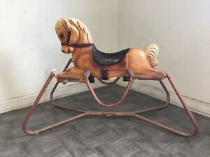 Vintage 1960's The Wonder Mare Pony Model 4 Horse Spring Bounce Ride USA Made