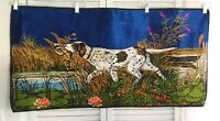 Vintage 38 in. X 19 in. Hunting Dog Boho velvet Wall Hanging Tapestry Italy