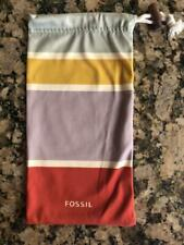 BRAND NEW FOSSIL Eye Glasses Sunglasses SOFT FABRIC Pouch Case