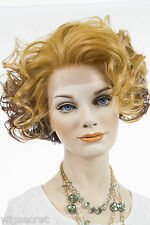 Medium Lace Front Vivica Fox Wavy Curly Blonde Brunette Red Wigs