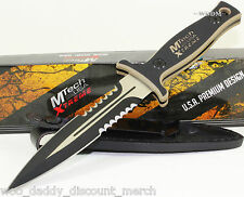 MTech G-10 Tan 1/2 Serrated Double Edged Throwing Boot Dagger Combat Knife