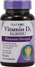 Maximum Strength Vitamin D3, Natrol, 60 tablet 1 Bottle