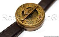 Antique Wrist Watch Type Brass Sundial Compass Marine Working Antique Style