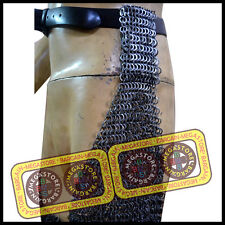 Chain Mail Legging Flat Riveted with Washer Chain Mail Chausses Leg Leggings