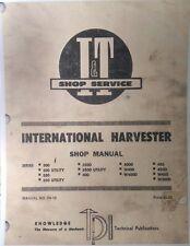 Farmall International 300 350 Utility 450 400 Tractor I&T Service Manual 84pg Ih