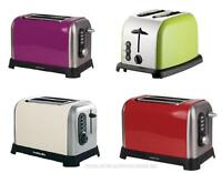 2 Slice Toaster Stainless Steel Electric Browning Control Cream Green Purple Red
