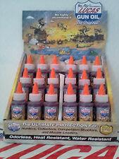 LUCAS GUN OIL #10006  18x 2oz. BOTTLES (DISPLAY CASE INCLUDED) (MADE IN USA)