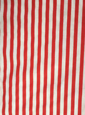 2 Yards by 45� Wide Red & White Striped Cotton Fabric Candy Cane Christmas
