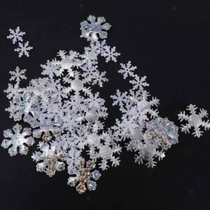 500pcs Christmas Snowflakes Table Confetti Throwing Party Decoration Sprinkle