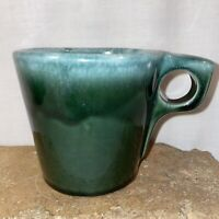 Vintage Hull Oven Proof USA Avocado Green Drip Coffee Cup Mug Retro Pottery