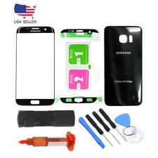 Front Glass Lens Screen Replacement for Samsung Galaxy S7 Edge G935 Black