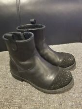 Girls Leather Boots Size 10/28 by Bikkembergs