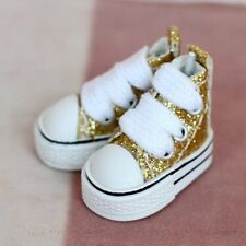 "12"" Blythe / Dal Doll outfit Fashion MICRO Shoes (Gold)"