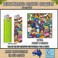 Lighter Stickers / Wrap x9 - Standard Bic Lighter - SUPER MARIO