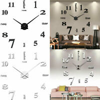 3D DIY reloj de pared pared de bricolaje decoracion moderna inicio de casa
