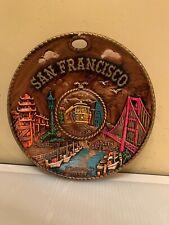 Vintage Early 1980's San Francisco, California State Souvenir Collector Plate