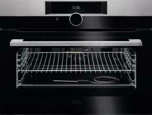AEG KPK842220M Compact Pyrolytic Self Clean Oven In Stainless Steel HA3481