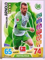 Match Attax 2017/18 Bundesliga - #319 Maximilian Arnold - VfL Wolfsburg