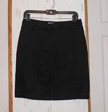 XHILARATION  Black Cotton Blend Straight Skirt  w Front Slit  Sz.7
