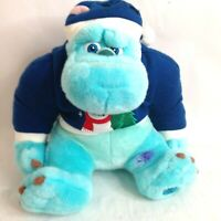 Disney Store Monsters Inc Sully Christmas Sweater Hat Stuffed Plush Animal Toy