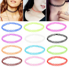 12PCS Vintage Stretch Tattoo Choker Girl Necklace Punk Retro Gothic Pendants