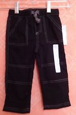 First Impressions Baby Solid Woven Pants Deep Black NWT size 18 months
