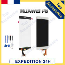 VITRE TACTILE + ECRAN LCD ORIGINAL PRET-A-MONTER POUR HUAWEI P8 BLANC + FILM