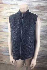 Mycra Pac Life Pucker Vest Reversible Animal Print & Black Zip Front Women's SM
