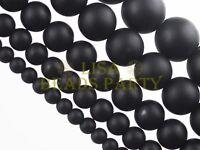 50pcs 4mm Round Brazil Blackstone Gemstone Loose Spacer Beads Jewelry Findings