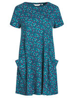 Seasalt Tossed Seaweed Atlantic Short Sleeve Clear Light Dress - Size 8 - 18