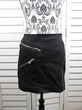 caa86196a81 New The Kooples Mini Skirt Womens Large Black Short Zippers Casual Ladies  Chic