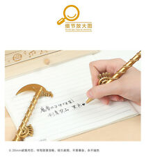 New World of Warcraft Collector Pen Sword | Axe Style | Pencil Case | Gold Color