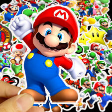 Super Mario Stickers Skateboard Vinyl Decals Laptop Luggage Sticker 50 Pieces