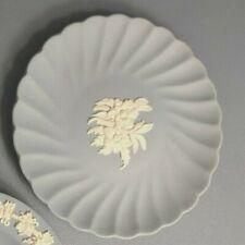 "New ListingVintage Wedgewood Fluted Blue Jasperware Flower Ring Trinket Dish 4-3/4"""