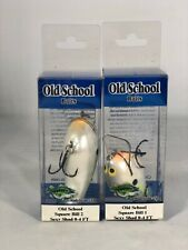 Old School Baits Square Bill 1 and Square Bill 2 Sexy Shad Minnow Bait