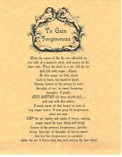 Book of Shadows Spell Pages ** To Gain Forgiveness ** Wicca Witchcraft BOS