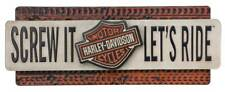 Harley-Davidson Screw It Let's Ride Embossed Metal Sign, 22 x 9 Inches HDL-15518